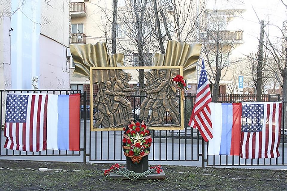 Состоялась церемония возложения цветов к памятнику...